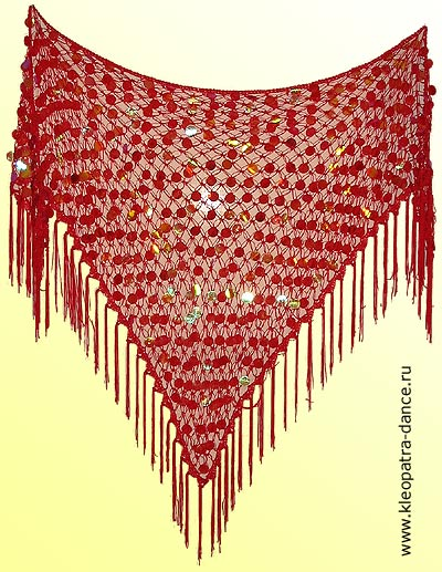 Бисерные платки для танца живота.