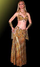Леопардовый беспоясный костюм для танца живота